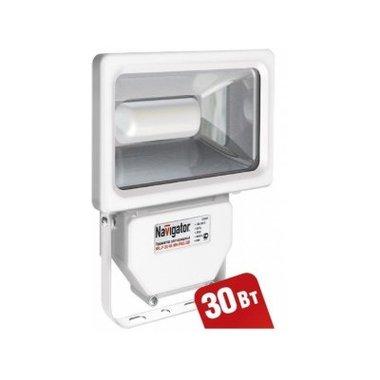 Прожектор светодиодный 30 вт Navigator NFL-P-30-4K-WH-IP65 LED (94629, аналог ИО300Вт)