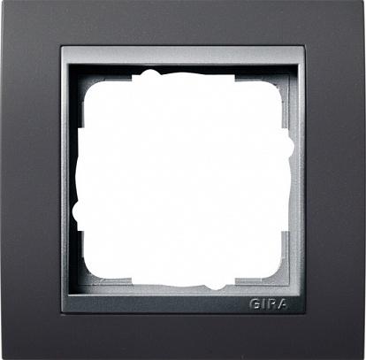 Gira EV Антрацит/алюминий Рамка 1-ая