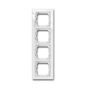 ABB Axcent Рамка 4-постовая, для монтажа заподлицо, axcent, белый