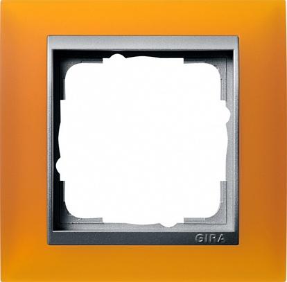 Gira EV Матово-янтарный/алюминий Рамка 1-ая