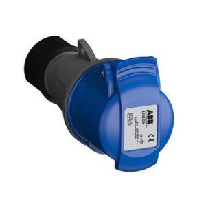 ABB Розетка кабельная Easy&Safe 216EC6, 16А, 2P+E, IP44, 6ч