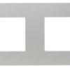 ABB NIE Zenit Серебро Рамка 2-я 2+2 мод