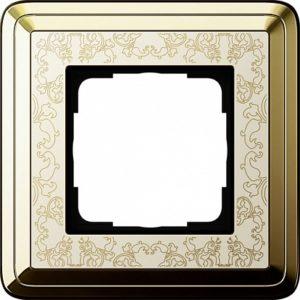 Gira ClassiX Art Латунь/Кремовый Рамка 1-ая