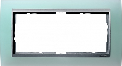Gira EV Матово-зелёный/алюминий Рамка 2-ая без перегородки