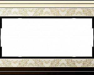 Gira ClassiX Art Латунь/Кремовый Рамка 2-ая без перегородки