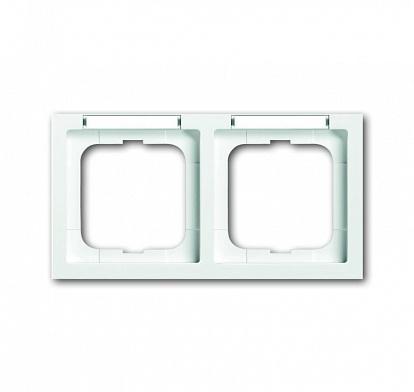 ABB Solo/future Рамка 2-постовая, с полем для надписи и шильдиком, горизонтальная, future linear, davos/альпийский белый