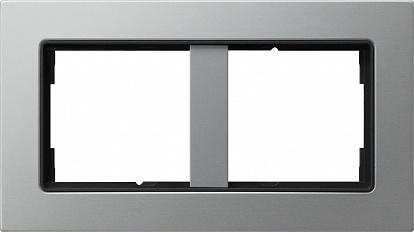 Gira E22 Алюминий Рамка для комбинаций без перегородки