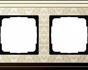 Gira ClassiX Art Латунь/Кремовый Рамка 2-ая