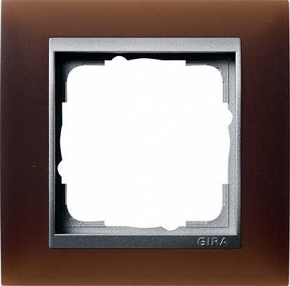 Gira EV Матово-коричневый/алюминий Рамка 1-ая
