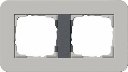 Gira серия E3 Серый/антрацит Рамка 2-ая