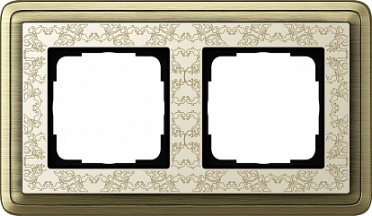 Gira ClassiX Art Бронза/Кремовый Рамка 2-ая