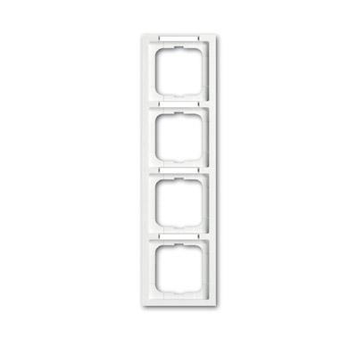 ABB Solo/future Рамка 4-постовая, с полем для надписи и шильдиком, вертикальная, future linear, davos/альпийский белый