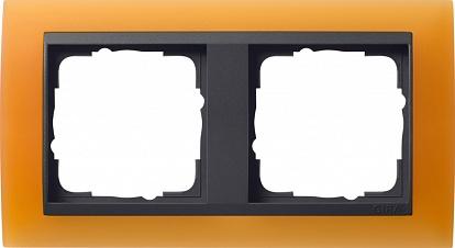 Gira EV Матово-оранжевый/антрацит Рамка 2-ая