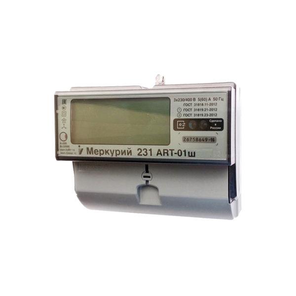Электросчетчик Меркурий 231 ART-01 Ш 3*230/400В; 5(60)А; кл. т. 1.0/2.0; Мн.т; CAN; ЖКИ; 3 винта
