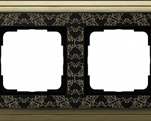 Gira ClassiX Art Бронза/Черный Рамка 2-ая