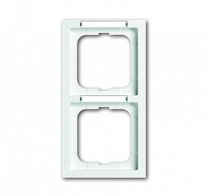 ABB Solo/future Рамка 2-постовая, с полем для надписи и шильдиком, вертикальная, future linear, davos/альпийский белый