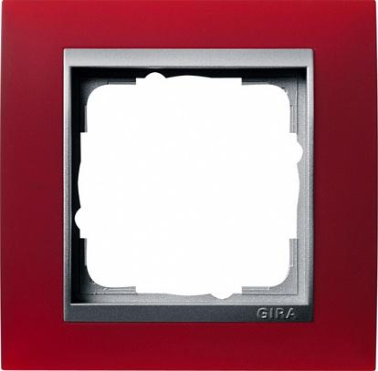 Gira EV Матово-красный/алюминий Рамка 1-ая