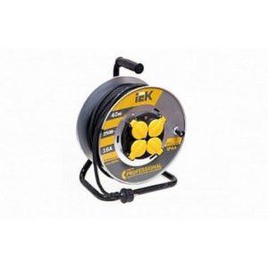 Катушка УК20 на металлической катушке с термозащитой 4 места 2Р+PЕ/20м КГ 3х1,5мм2 IP44 Professional ИЭК