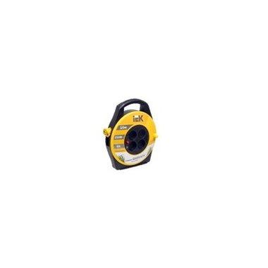 Катушка УК10 с термозащитой 4 места 2Р+PЕ/10м 3х1,5 мм2 Industrial ИЭК
