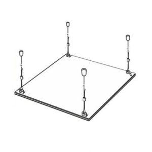 Комплект подвесов LP-КПП-К потолочный КОРОТКИЙ для панели светодиодной ASD