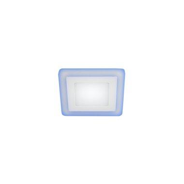 Светильник светодиодный квадратный c cиней подсветкой ЭРА LED 4-9 BL 9W 540LM 220V 4000K (40/480)