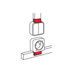 Legrand Адаптер QUTEO для кабель-каналов 15x10 METRA