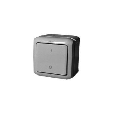 Legrand Выключатель двухполюсный IP44 серый