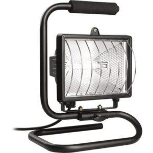 Прожектор ИО150П (переноска) галогенный черный IP54 ИЭК