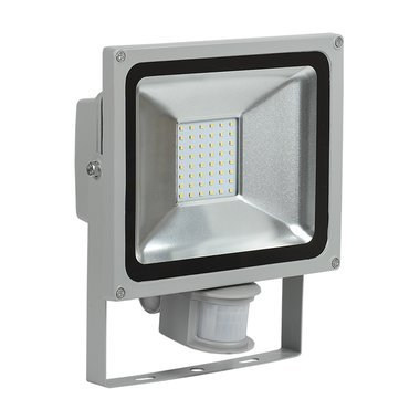 Прожектор СДО 05-30Д (детектор) светодиодный серый SMD IP44 ИЭК