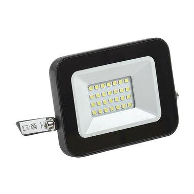 Прожектор СДО 06-20 светодиодный черный IP65 4000 K ИЭК 20 вт уличный