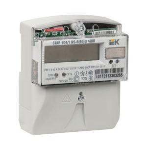 Счетчик электрической энергии однофазный многотарифный STAR 104/1 R5-5(60)Э 4ШО ИЭК