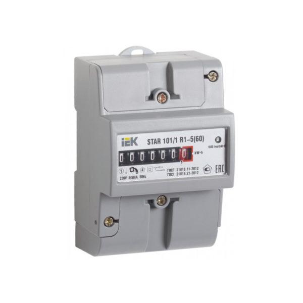 Счетчик электрической энергии однофазный STAR 101/1 R1-5(60)Э Ш2 ИЭК
