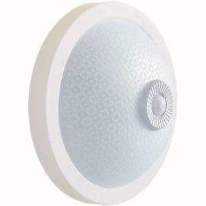 Светильник НПО3236Д белый 2х25 с датчиком движения ИЭК