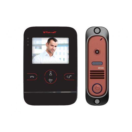 Комплект видеодомофона Tor-neT (TR-25 B видеодомофон + В/П DVC-412СRe)
