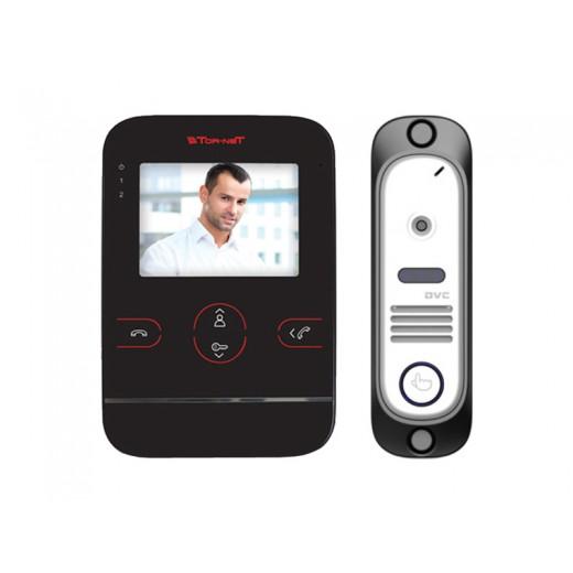 Комплект видеодомофона Tor-neT (TR-25M B видеодомофон + В/П DVC-412С Si)