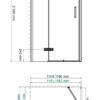 Душевой уголок прямоугольник справой распашной дверью WasserKRAFT Aller 10H10RBLACK 18570