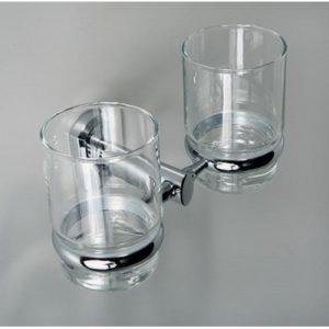 Подстаканник двойной стеклянный WasserKRAFT Oder K-3028D