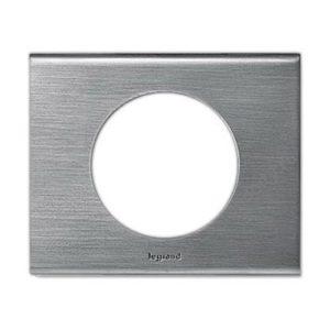 Legrand 69101 Рамка 1 пост фактурная сталь