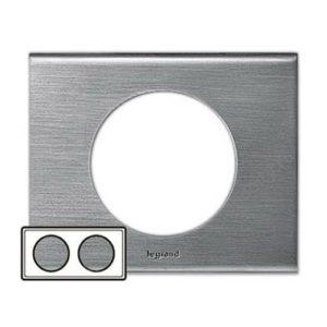 Legrand 69102 Рамка 2 поста фактурная сталь
