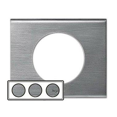 Legrand 69103 Рамка 3 поста фактурная сталь