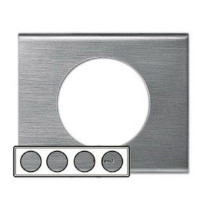 Legrand 69104 Рамка 4 поста фактурная сталь