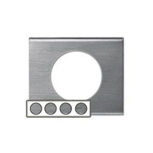 Legrand 69110 Рамка 5 постов фактурная сталь