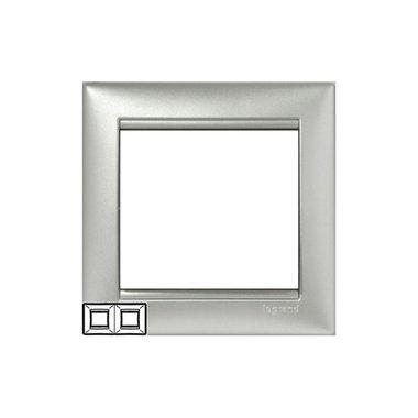 Legrand 770152 Рамка Valena 2 поста горизонтальный монтаж алюминий