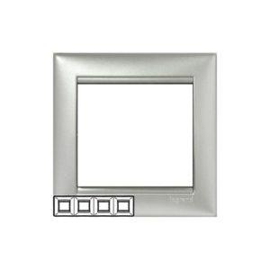 Legrand 770154 Рамка Valena 4 поста горизонтальный монтаж алюминий