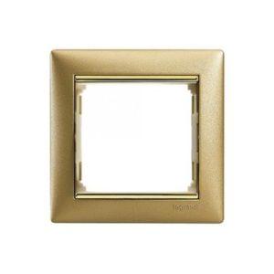 Legrand 770301 Рамка Valena 1 пост матовое золото
