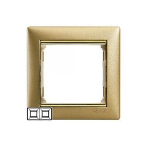 Legrand 770302 Рамка Valena 2 поста матовое золото