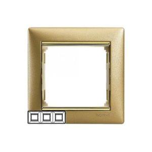 Legrand 770303 Рамка Valena 3 поста матовое золото