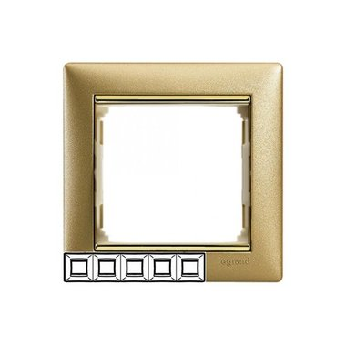 Legrand 770305 Рамка Valena 5 постов матовое золото