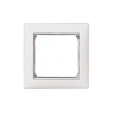 Legrand 770491 Рамка Valena 1 пост белый/серебряный штрих
