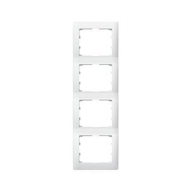 Legrand 771008 Рамка вертикальная 4 поста белый
